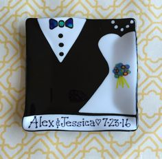 Fused Glass Wedding Plate - Customized with names and date by FestiveGlass on Etsy
