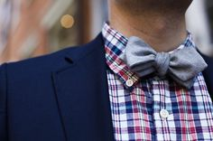 tipped bow tie.