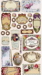 Free Shabby Vintage Printable labels