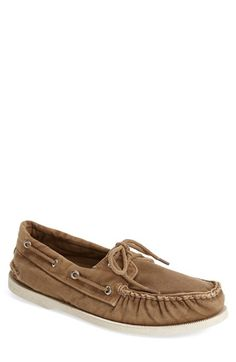 Sperry 'Authentic Original' Washed Canvas Boat Shoe (Men) available at #Nordstrom
