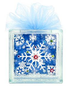 Nicole™ Crafts Snowflake Glass Block #christmas #glassblock