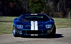 Download wallpapers Ford Gt40, 1965, blue Gt40, racing car, american sports cars, Ford