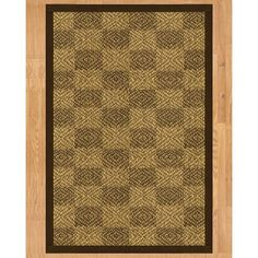 Handcrafted Oslo Natural Sisal Rug - Dark Brown Binding, (6' x 9') (6-Feet by 9-Feet), Beige, Size 6' x 9' (Cotton, Geometric)