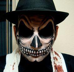 dia de los muertos face paint for men - Google Search