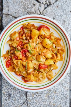 Nápolyi krumplis tészta   Street Kitchen Pasta Salad, Cauliflower, Favorite Recipes, Meals, Vegetables, Ethnic Recipes, Kitchen, Gd, Simple