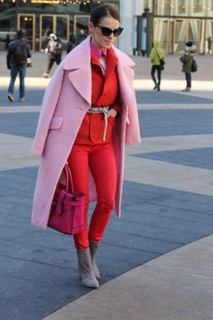 NYFW F/W '14 Brights in Street Style. OMG! This is seriously the best outfit of this winter. Stunning colors <3