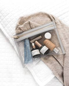 7 Travel Beauty Essentials You Have to Carry-On - LikeToKnowIt Beauty Care, Beauty Skin, Beauty Makeup, Beauty Hacks, Hair Beauty, Beauty Essentials, Travel Essentials, Travel Hacks, Makeup Kit