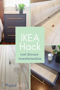 Ikea Hack Nightstands For Under 100 Project343 Nightstand Nightstana Furniture Hacksdiy