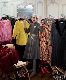 Iris Apfel knows how to fill a spare room. photo by Roger Davies for Architectural Digest