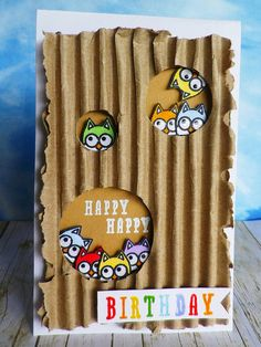 Birthday card using @Hero Arts Lil Hoot and Fantastic Birthday