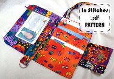 Small Wallet Wristlet PDF Pattern DIY Clutch Instructions. $8.00, via Etsy.