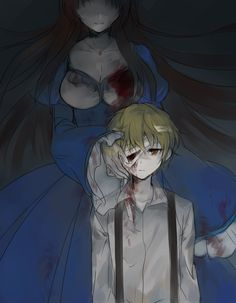 Mad Father Fanart Dio and Monika Mad Father, Creepy Games, Funny Games, Rpg Horror Games, Rpg Maker, Cute Anime Pics, Witch House, Angel Of Death, Monsters