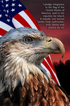"""Changed June 14, 1954, from the original of 1942 to ADD """"under God"""". The Pledge of Allegiance was written in August 1892 by the socialist minister Francis Bellamy (1855-1931). Intended for all countries to use."""