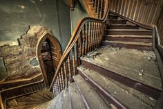 Amazing bell tower staircase in this abandoned church in Pennsylvania.