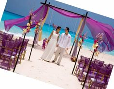 <3 Travel Journeys <3  http://www.travel-journeys.com <3 pretty beach wedding decor.