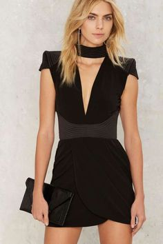 Zhivago Swallow Mini Dress - Black