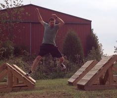 Quad Steps for training like a ninja Kids Ninja Warrior, American Ninja Warrior Obstacles, America Ninja Warrior, Ninja Warrior Course, Backyard Fort, Backyard Obstacle Course, Kids Obstacle Course, Outdoor Gym, Outdoor Playground