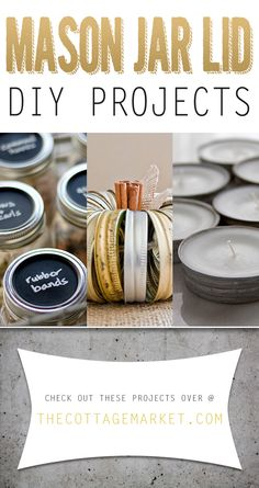 Mason Jar Lid DIY Projects - The Cottage Market #MasonJars, #MasonJarLids, #MasonJarLidCrafts, #MasonJarLidDIYProjects, #MasonJarDIYProjects