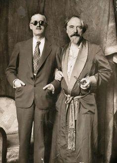 James Joyce and Augustus John, 1920s.