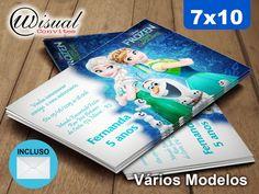 CFRZ04 - Convite Frozen 7x10cm