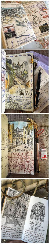 Ideas Art Sketchbook Ideas Drawings Moleskine For 2020 Voyage Sketchbook, Travel Sketchbook, Arte Sketchbook, Moleskine, Sketch Journal, Journal Pages, Journal Art, Drawing Journal, Journal Ideas