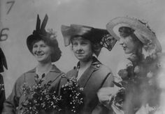From left to right; Elizabeth Ames, Madeline Connyngham and Lorena Jane Cruce at the launch ceremony of the USS Oklahoma, in March of 1914. Nineteen year old Lorena Cruce, whose father was white and mother was Indian (half Choctaw and half Chickasaw), was said to be one of the most beautiful girls in all of Oklahoma. Prohibitionists wanted to christen the ship w/ mineral water, but champagne was used after all.  The Oklahoma was one of the battleships sunk at Pearl Harbor.