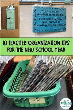Start your year off right with 10 Teacher Organization Tips for the New School Year! #teacherorganization #classroomorganization #backtoschool