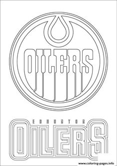 edmonton oilers logo nhl hockey sport coloring pages printable and coloring book to print for free. Find more coloring pages online for kids and adults of edmonton oilers logo nhl hockey sport coloring pages to print. Hockey Logos, Hockey Quotes, Nhl Logos, Sports Logos, Sports Coloring Pages, Cute Coloring Pages, Printable Coloring Pages, Coloring Sheets, Edmonton Oilers