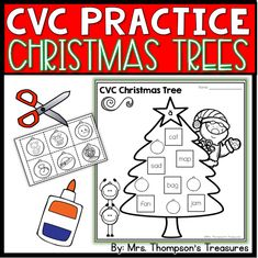 FREE Fun CVC practice for Christmastime! Cut out the ornaments, then match the right pictures to the words. (5 pages)