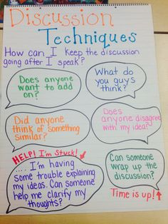 Classroom discussions / accountable talk | Sentence stems for students to lead the discussion.