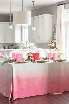 make your own watercolor tablecloth hgtv spring house pinterest