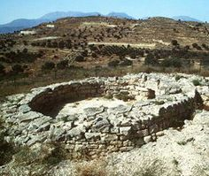 Greece: Minoan tholos tomb at Kamilari