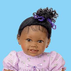 Ayana African-American Lifelike Baby Girl Doll - Detail
