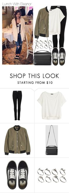 """""""Lunch With Eleanor"""" by onedirectiondress ❤ liked on Polyvore featuring Paige Denim, H&M, AllSaints, Vans and ASOS"""