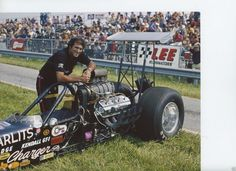 Don Garlits and his rear engine AA/FD