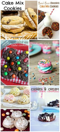 Cake Mix Cookies #Recipes #Cookies