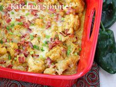 Kitchen Simmer: Roasted Poblano Cauliflower Casserole