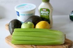 Healthy Chicken Salad with Apples and Celery Ingredients