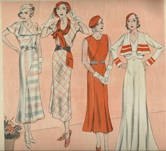 1932 Womens Fashions from Ladies Home Journal