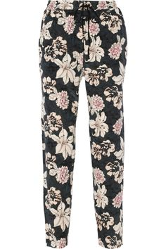Elizabeth and James | Bruno floral-print silk tapered pants