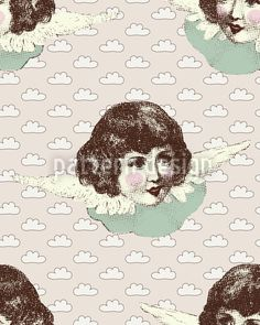 Angel Baby by Alexandra Bolzer available as a vector file on patterndesigns.com