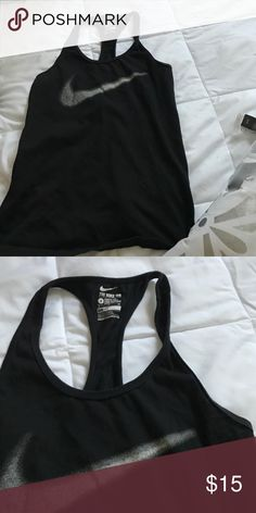 Size small black and white Nike tank Great condition Nike Tops Tank Tops