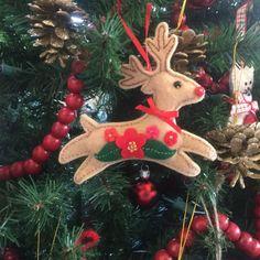 Primitive Christmas Reindeer Doll Ornie Paper Pattern #534