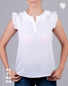 Sewing shirt for women simple 42 Super Ideas Blouse Styles, Blouse Designs, Latest Tops Fashion, Sewing Blouses, Dress Patterns, Casual Looks, Mantel, Blouses For Women, Casual Outfits