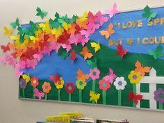 Spring Bulletin Board - Beautiful Butterflies!