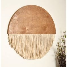 BrandtWorks 18 in. Wooden Round Fiber Art Wall Hanging - The Home Depot art wall BrandtWorks 18 in. Wooden Round Fiber Art Wall Hanging - The Home Depot