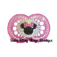 Minnie Mouse Bling Pacifier