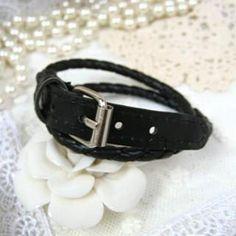 Belted Bangle Black - One Size Bangles, Belt, Accessories, Black, Jewelry, Bracelets, Belts, Waist Belts, Jewlery