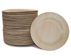 A more elegant and green alternative to the paper plate. bambu's All Occasion Veneerware® bamboo plates are strong, sturdy and beautifully designed. These plates won't buckle from the weight of food like paper plates do. They are biodegradable, compostable and made from Certified Organic bamboo- a highly renewable and plentiful resource. These plates will accent your most formal occasion from weddings and birthdays or are perfect for a backyard family barbecue. Ideal for serving and…