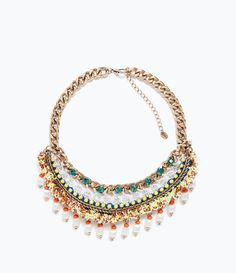 Image 1 of MULTICOLOURED CHAIN AND BEAD NECKLACE from Zara
